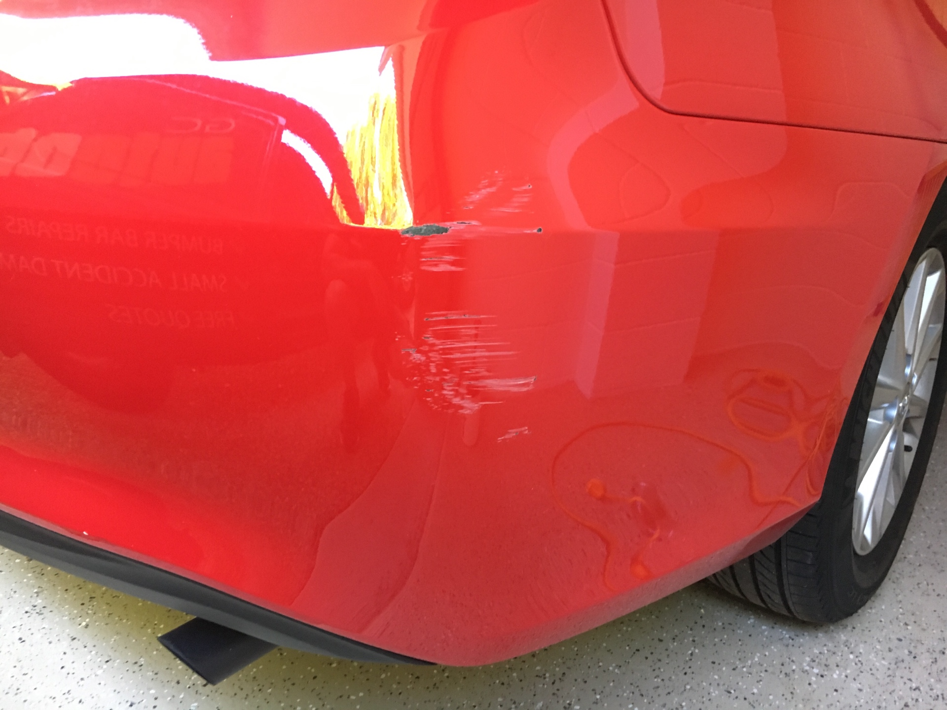 Camry bumper bar scratch repair
