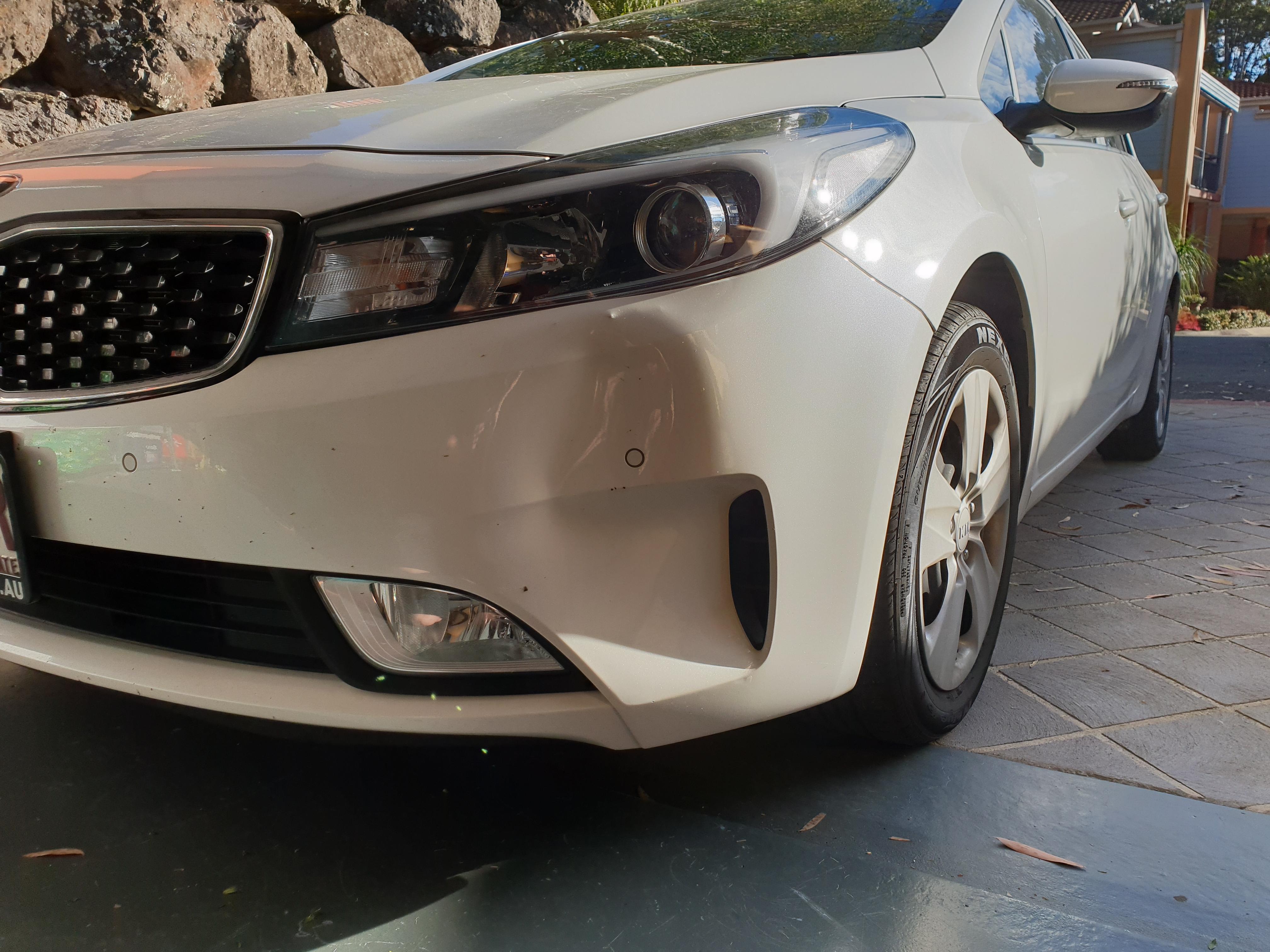 Kia front bumpert bar repair